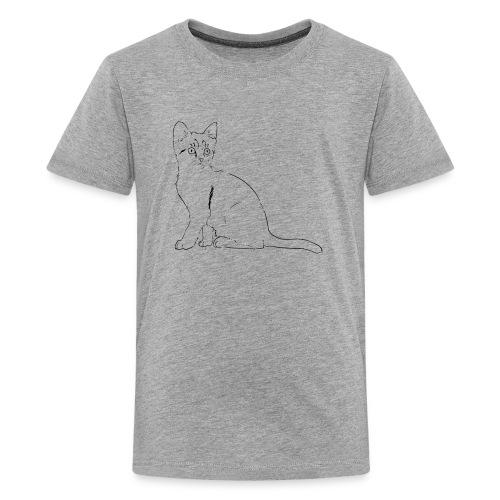 Housse de coussin Chat dessin - T-shirt Premium Ado