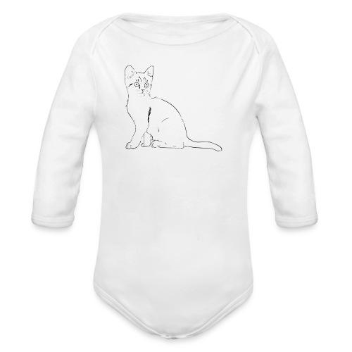 Housse de coussin Chat dessin - Body bébé bio manches longues