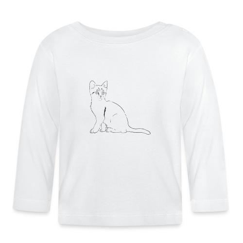 Housse de coussin Chat dessin - T-shirt manches longues Bébé
