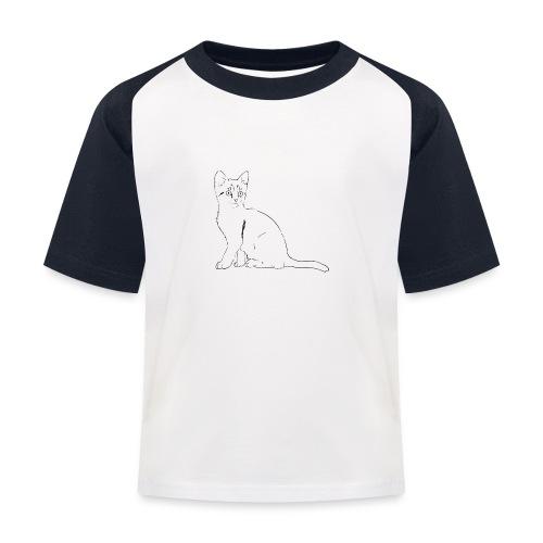 Housse de coussin Chat dessin - T-shirt baseball Enfant