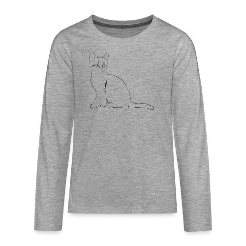Housse de coussin Chat dessin - T-shirt manches longues Premium Ado