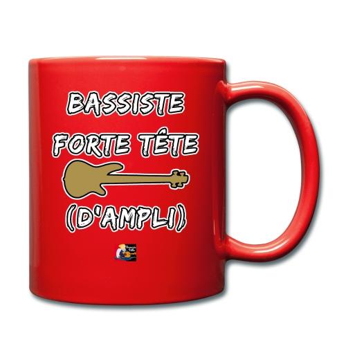 BASSISTE, FORTE TÊTE (D'AMPLI) - JEUX DE MOTS - FRANCOIS VILLE - Mug uni