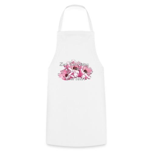 Zum Geburtstag pink Rosen - Kochschürze