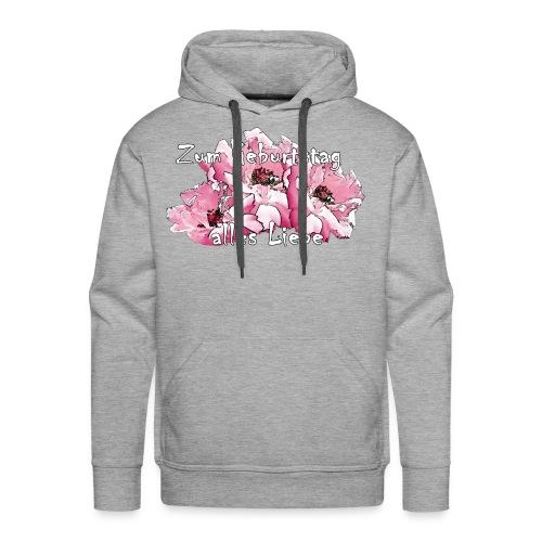 Zum Geburtstag pink Rosen - Männer Premium Hoodie