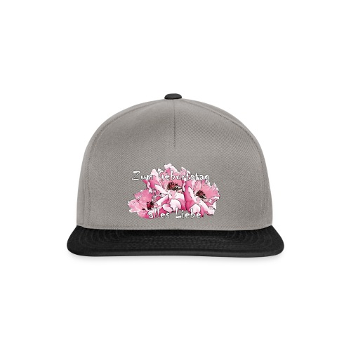 Zum Geburtstag pink Rosen - Snapback Cap