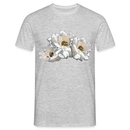 Drei Rosen Collage - Männer T-Shirt