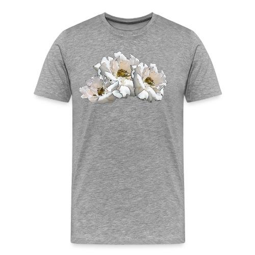 Drei Rosen Collage - Männer Premium T-Shirt