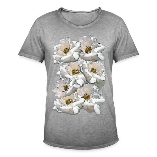 Sieben Rosen Collage - Männer Vintage T-Shirt