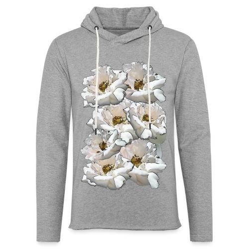 Sieben Rosen Collage - Leichtes Kapuzensweatshirt Unisex
