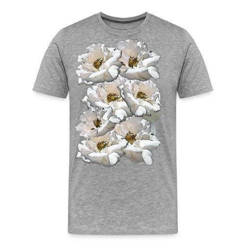 Sieben Rosen Collage - Männer Premium T-Shirt