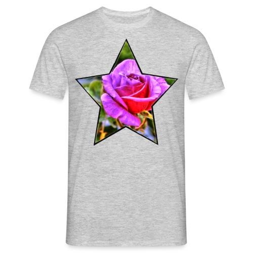 Rosen-Stern - Männer T-Shirt