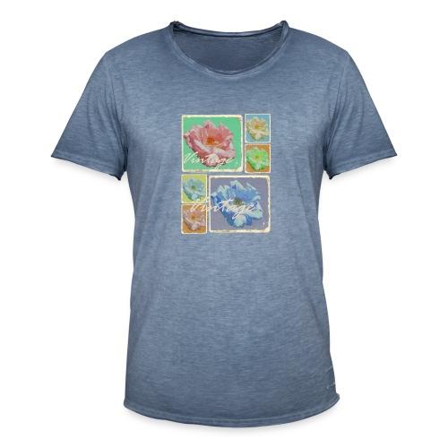 Vintage-Rosen Collage - Männer Vintage T-Shirt