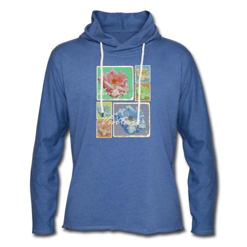 Vintage-Rosen Collage - Leichtes Kapuzensweatshirt Unisex