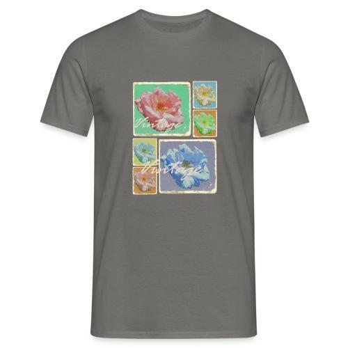 Vintage-Rosen Collage - Männer T-Shirt