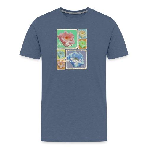 Vintage-Rosen Collage - Männer Premium T-Shirt