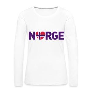 Elsker Norge - Premium langermet T-skjorte for kvinner