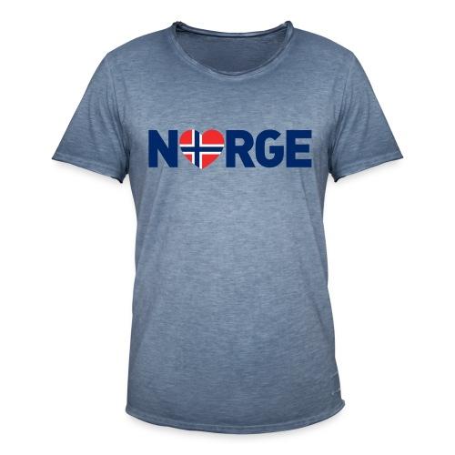 Elsker Norge - Vintage-T-skjorte for menn