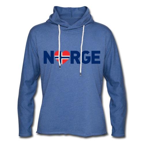 Elsker Norge - Lett unisex hette-sweatshirt