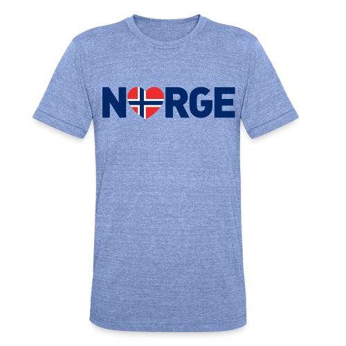 Elsker Norge - Unisex tri-blend T-skjorte fra Bella + Canvas