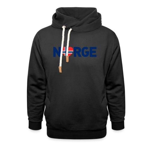 Elsker Norge - Hettegenser med sjalkrage