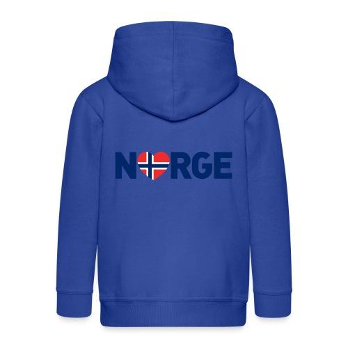 Elsker Norge - Premium Barne-hettejakke