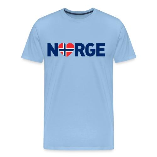 Elsker Norge - Premium T-skjorte for menn