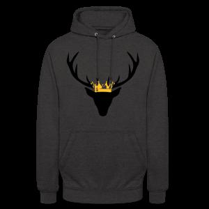 Hirschgeweih mit Krone Shirt - Unisex Hoodie