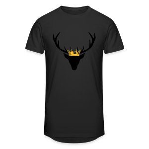 Hirschgeweih mit Krone Shirt - Männer Urban Longshirt