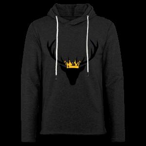 Hirschgeweih mit Krone Shirt - Leichtes Kapuzensweatshirt Unisex