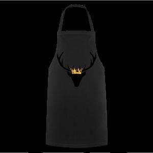 Hirschgeweih mit Krone Shirt - Kochschürze