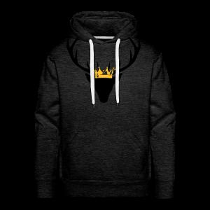 Hirschgeweih mit Krone Shirt - Männer Premium Hoodie