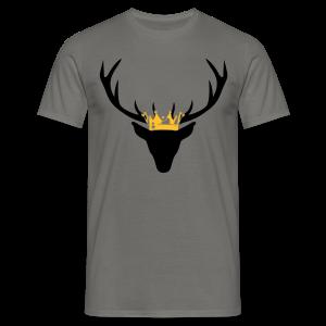 Hirschgeweih mit Krone Shirt - Männer T-Shirt
