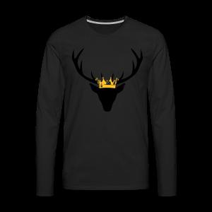 Hirschgeweih mit Krone Shirt - Männer Premium Langarmshirt