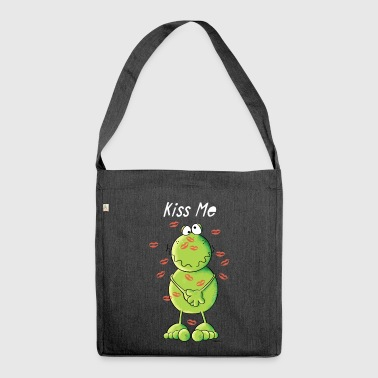Kiss Me Frosch Taschen & Rucksäcke - Schultertasche aus Recycling-Material