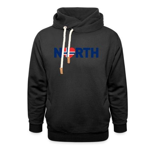 Nord-Norge på engelsk - Hettegenser med sjalkrage