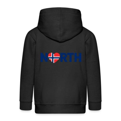 Nord-Norge på engelsk - Premium Barne-hettejakke