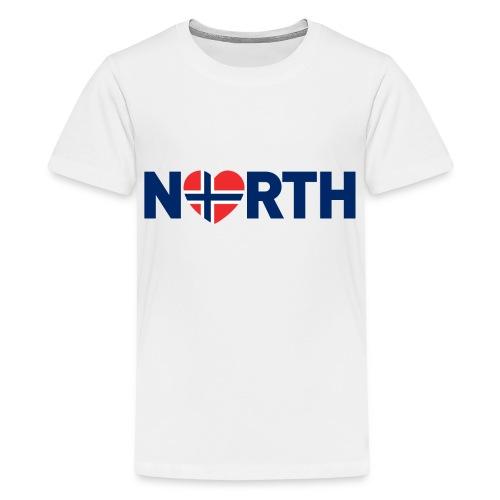 Nord-Norge på engelsk - Premium T-skjorte for tenåringer