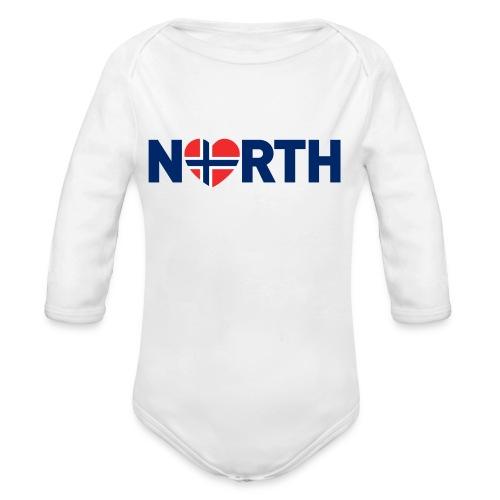 Nord-Norge på engelsk - Økologisk langermet baby-body