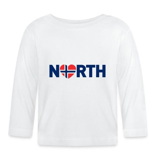 Nord-Norge på engelsk - Langarmet baby-T-skjorte