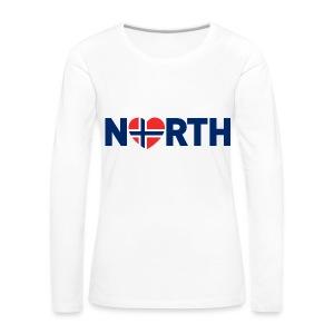 Nord-Norge på engelsk - Premium langermet T-skjorte for kvinner
