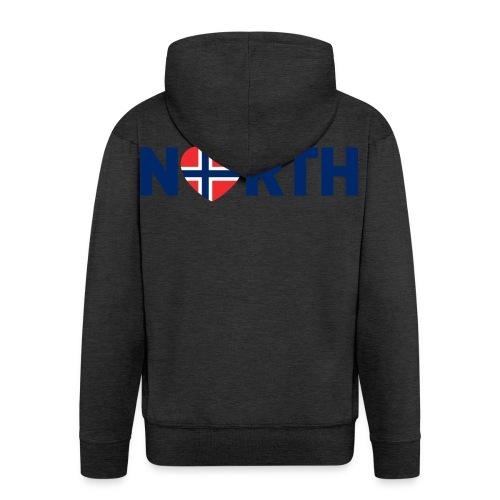 Nord-Norge på engelsk - Premium Hettejakke for menn