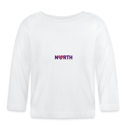 Nord-Norge heart - Langarmet baby-T-skjorte