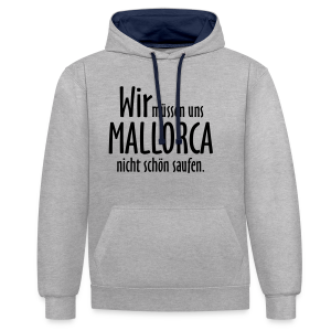 Mallorca schön saufen T-Shirt - Kontrast-Hoodie
