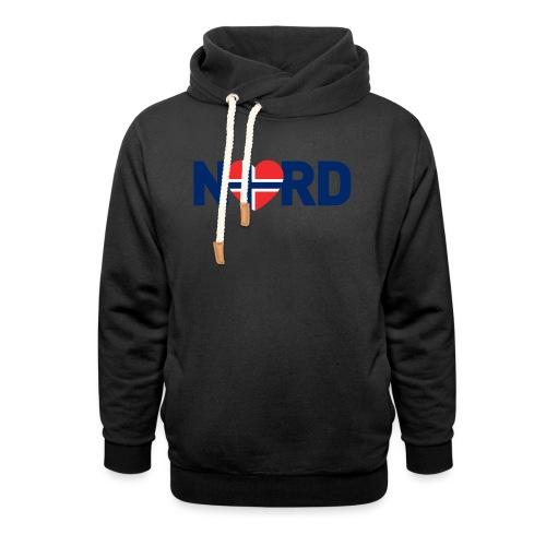 Nord og norsk - Hettegenser med sjalkrage