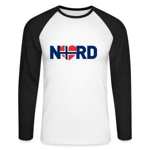 Nord og norsk - Langermet baseball-skjorte for menn