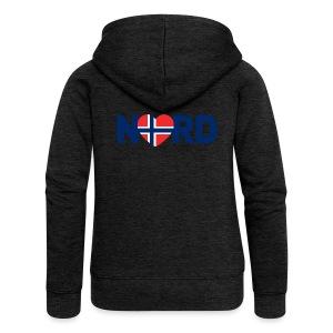 Nord og norsk - Premium hettejakke for kvinner