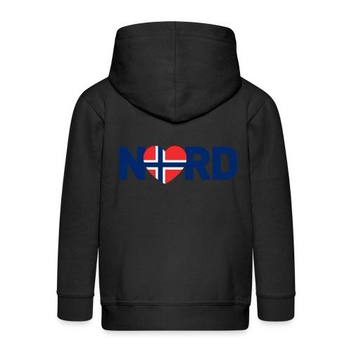 Nord og norsk - Premium Barne-hettejakke