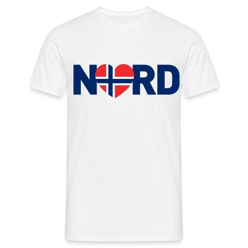 Nord og norsk - T-skjorte for menn