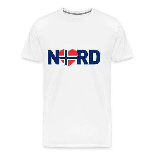 Nord og norsk - Premium T-skjorte for menn