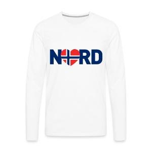 Nord og norsk - Premium langermet T-skjorte for menn